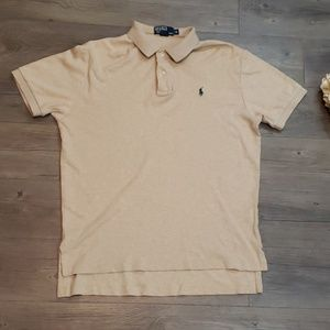POLO Ralph Lauren Tan Shirt with Forest Green Man